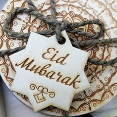 Your place to buy and sell all things handmade Eid Mubarak Gift, Eid Pics, Ramzan Eid, Muslim Greeting, Ramadan Gifts, Wooden Tags, Islamic Gifts, Personalized Tags, Gift Tags