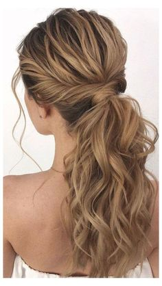 Wedding Ponytail Hairstyles, High Ponytail Hairstyles, Ball Hairstyles, Bride Hairstyles, Down Hairstyles, Prom Ponytails, Side Ponytail Prom, Formal Hairstyles, Ponytail For Wedding