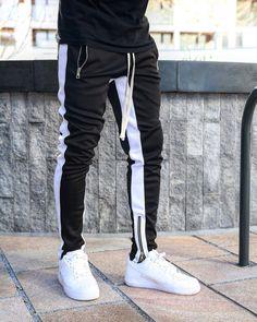 Mens Skinny Sweatpants, Mens Joggers, Men Joggers Outfit, Jogger Outfit, Jogger Pants, Sweat Pants, Look Man, Tracksuit Bottoms, Mode Streetwear