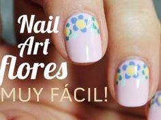 Nail art de flores sencillas paso a paso