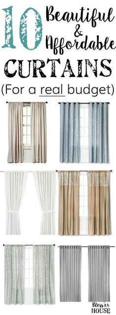 10 Beautiful and Affordable Curtains for a Real Budget - Bless'er House - 10 Beautiful and Affordable Curtains for a Real Budget – Bless'er House -