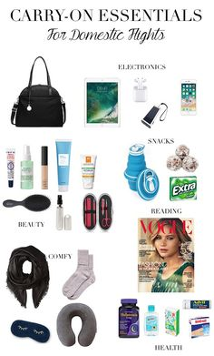 Too Polished Carry-On Essentials for Domestic Flights, Travel Packing, Carry On Bag Essentials, Airplane Essentials, Travel Essentials For Women, Road Trip Essentials, Travel Packing Checklist, Road Trip Packing, Road Trip Hacks, Travelling Tips, Packing Hacks
