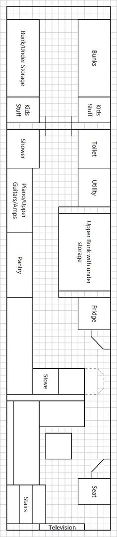 Bluebird School Bus Floor Plan, Needs Some Mods, But Might It Be Good