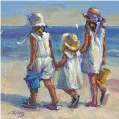 Sunday best original painting beach art lucelle raad figurative 8 x 10 Painting People, Figure Painting, Painting & Drawing, Watercolor Paintings, Original Paintings, Beach Paintings, Canvas Art, Canvas Prints, Art Prints