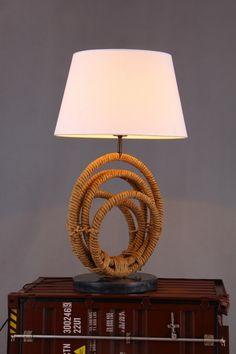 Modrest Bourke Modern Rope & Marble Table Lamp VGKRKW0043T-1