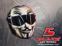 Blaze Artworks Custom Motorcycle Helmet 156