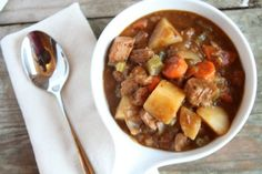 Slow Cooker Beef Stew | SouthernBite.com