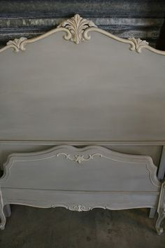 Reloved Rubbish: Paris Grey Bedroom Set. I love this technique.