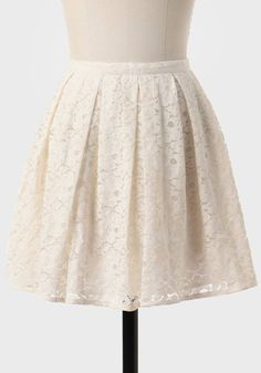 at Ruche // cream lace skirt
