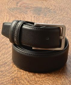 Gagliardi - Black Luxury Snakeskin Textured Leather Belt - €29.00