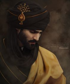 Whenever I am about to choose the one to illustrate the noble beauty with a background story - it's always mr. Hasnain Lehri ( hasnainlehri&n. Fantasy Inspiration, Character Inspiration, Character Art, Character Ideas, Beautiful Artwork, Beautiful Men, Muslim Men, Arab Men, Beard Styles For Men