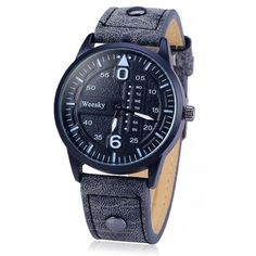 5.35$  Watch here - http://dinwm.justgood.pw/go.php?t=139810202 - Weesky 1203G Quartz Watch with Decorative Day Leather Band for Men
