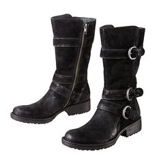 Croft Boot by Born® - These leather boots are Born® comfortable with a super-hip, multi-buckle biker style.