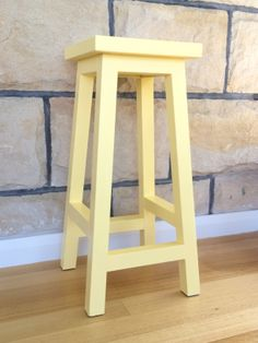 pastel yellow bar stool
