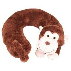 Monkey Soft Plush Neck Pillow for Car / Travel  Order at http://amzn.com/dp/B009LRQERQ/?tag=trendjogja-20