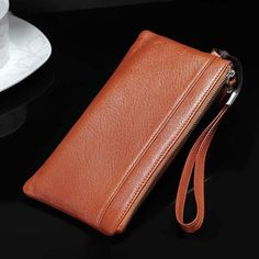 Strap Hand Genuine Cow Leather Mobile Phone Case Pouchs For Huawei PlUS/Mate Magic/Honor S7 Edge, Cow Leather, Iphone 7, Zip Around Wallet, Pouch, Samsung, Phone Cases, Card Wallet, Bags