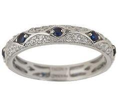 Diamonique Epiphany simulated sapphire and diamond Tacori ...
