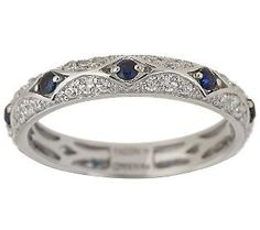 Diamonique Epiphany simulated sapphire and diamond Tacori ...