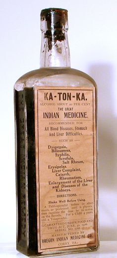 Ka-Ton-Ka. The Great Indian Medicine. For all blood diseases, stomach and liver difficulties, such as dyspepsia, biliousness, syphillis, scrofula, salt rheum, erysipelas, liver complaint, catarrh, rheumatism, enlargement of the liver, and diseases of the kidneys.