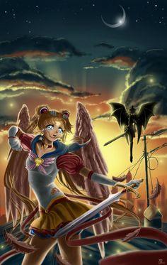 Sailor Moon_I'll fight until the end by Pillara on deviantART