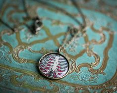 Rib Cage Necklace  Vintage Human Anatomy by CabinCastle on Etsy