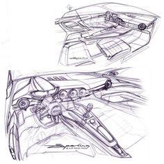 Audi TT Interior Concept Sketch