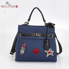 ==> [Free Shipping] Buy Best Office lady handbag women's Canvas messenger bag Flap bag Female tote Red Lover crossbody bags wholesale Online with LOWEST Price | 32726843903