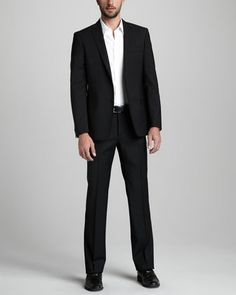City Fit Basic Suit by Versace Collection at Neiman Marcus.