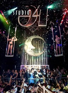 studio 54 moon - love the iconic moon maybe it could be in the background