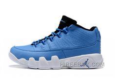 7325b28ed1f9 Air Jordan 9 IX Medium Grey White French Blue Cool Men Authentic