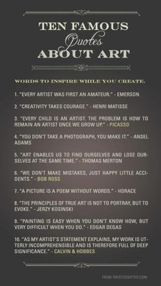 10 Famous quotes about art #Arts Design