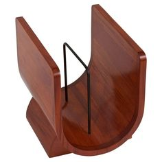 Vintage Magazine rack | From a unique collection of antique and modern magazine racks and stands at https://www.1stdibs.com/furniture/more-furniture-collectibles/magazine-racks-stands/