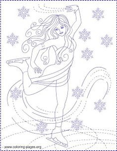 Nicole's Free Coloring Pages: ICE PRINCESS * COLORING PAGES