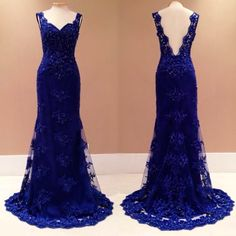 vestido de renda bordado Blue Lace Prom Dress, Royal Blue Prom Dresses, Prom Dresses 2015, Backless Prom Dresses, Mermaid Prom Dresses, Wedding Dresses, Evening Dress 2015, Evening Dresses, Award Show Dresses