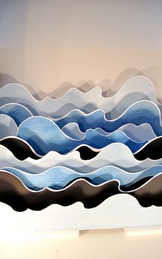 very cool wave cutouts. Would make a great hand painted batik