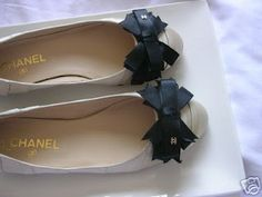 Chanel Satin Bow Flats
