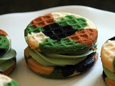 Camouflage Cupcake Sandwiches Pays Tribute to the Military - Foodista.com #cupcakes