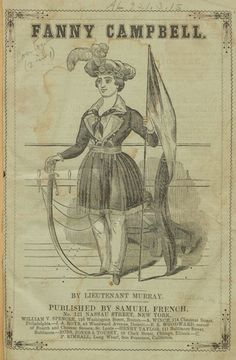 "The title page of ""Fanny Campbell, the Female Pirate Captain: A Tale of Revolution,"" 1844"