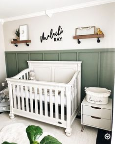 Baby Boy Room Decor, Baby Room Design, Baby Boy Rooms, Baby Bedroom, Baby Boy Nurseries, Nursery Room, Baby Boys, Green Nursery Girl, Baby Room Green