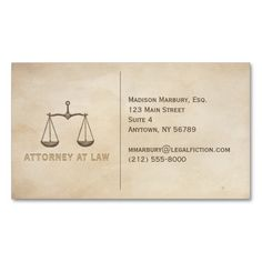 Attorney Business Card. I love this design! It is available for customization or ready to buy as is. All you need is to add your business info to this template then place the order. It will ship within 24 hours. Just click the image to make your own!