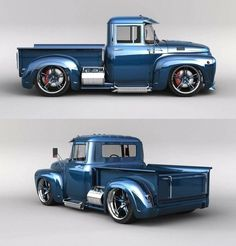 custom classic #trucks Custom Pickup Trucks, Classic Pickup Trucks, Old Pickup Trucks, Jeep Pickup, Pickup Camper, Old Ford Trucks, Cool Trucks, Big Trucks, Up Auto