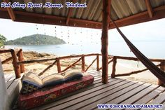 Koh Chang, Outdoor Furniture, Outdoor Decor, Bungalow, Thailand, Hotels, Sea, Nice, Home Decor