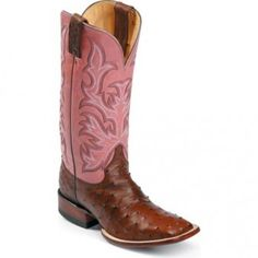Justin Ostrich Skin Boots