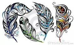 peacock feather black and white tattoo Clip Art Plume, Feather Clip Art, Feather Drawing, Feather Vector, Feather Painting, Art Et Illustration, Illustrations, Mandala Art, Feather Tattoos