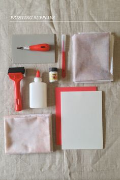 Lino and stamp making tutorial from Nancy Straughan