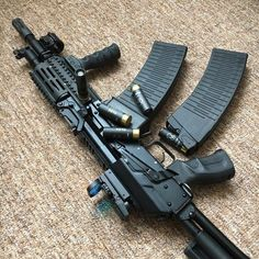 Want to load your magazines faster and easier without wearing out your thumbs? RAE Industries is your HERO! Get yours now and experience loading magazines without pain. Tactical Shotgun, Tactical Gear, Weapons Guns, Guns And Ammo, Vepr 12, Combat Knives, Combat Gear, Custom Guns, Military Guns