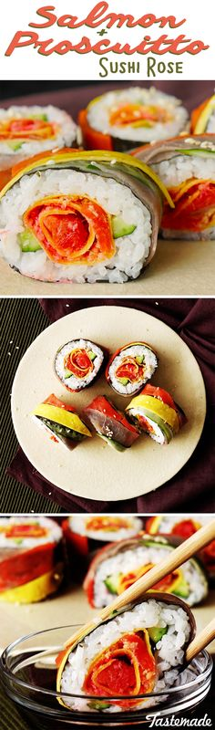 Make a sushi masterpiece that's almost(ALMOST) too pretty to eat!
