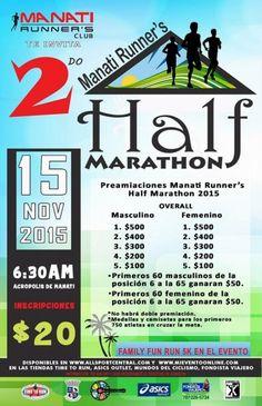 https://mieventoonline.com/index.php/events/event-catagories/ciclismo-recreativo/event/8/Manati-Runner%E2%80%99s-Half-Marathon-?utm_content=buffer40b01&utm_medium=social&utm_source=pinterest.com&utm_campaign=buffer  Inscribete online - Unico medio maratón en la zona norte de PR - 15 de noviembre en Manati!