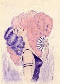VAMP DREAMING IN HOLLYWOOD, noonesnemesis: Lilac Ladies Vintage postcards