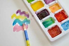 Make your own watercolors out of just two ingredients. | 31 Genius Hacks For Your Elementary School Art Class